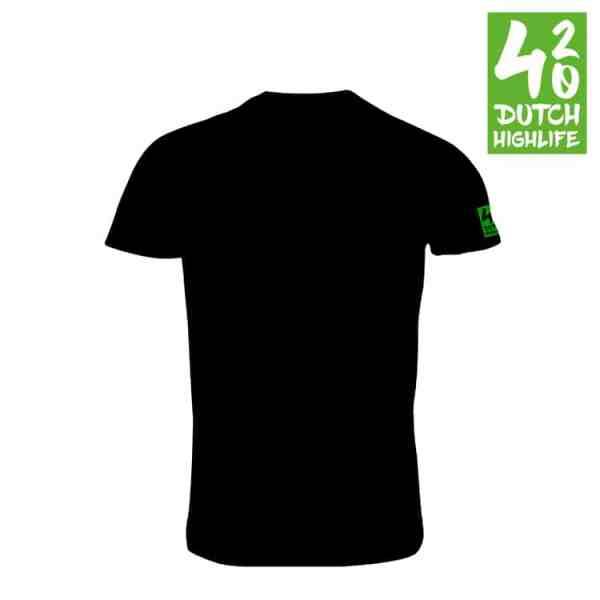 420 Dutch Highlife T-shirt Triple Weed Heren achterkant
