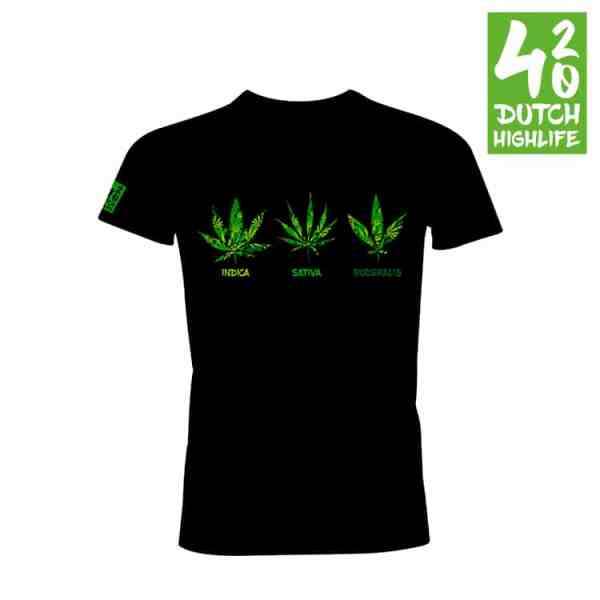 420 Dutch Highlife T-shirt triple weed Heren