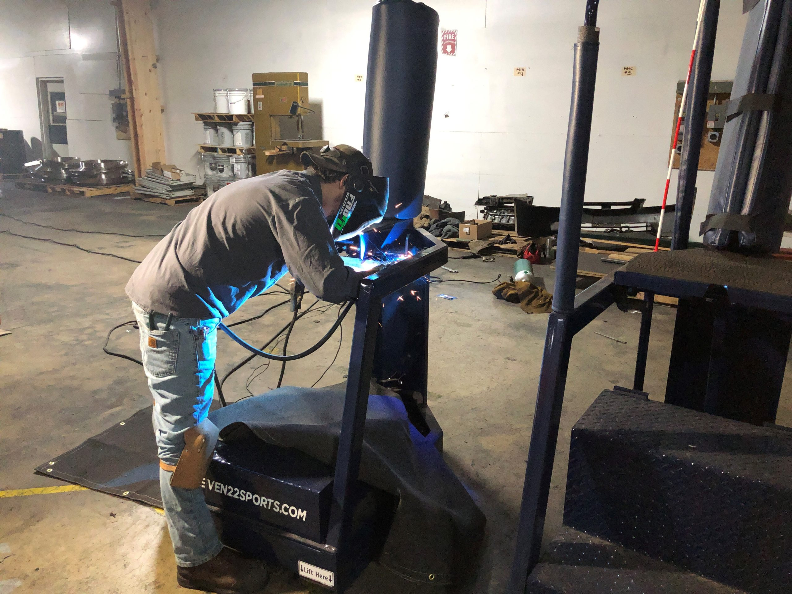 Mobile welding repair for Volleyball Stands