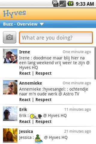 Hyves voor Android