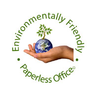 Paperless office - environmentally friendly
