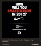 How will you #makeitcount contest door Nike