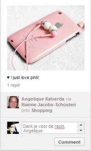 Zo schrijf je een comment op Pinterest