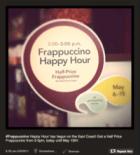 Frappuccino happy hour door Starbucks