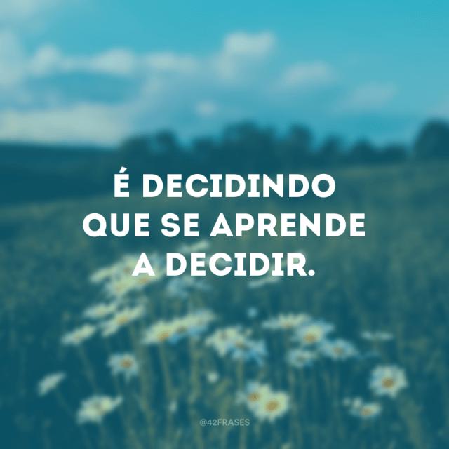 Aprender a decidir