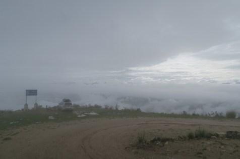 Campsite in the clouds.