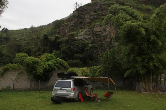 Campsite at the base of the mountain leading to Kuelap