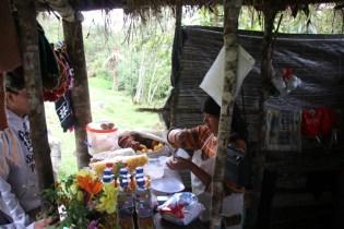 Estrella prepares food.