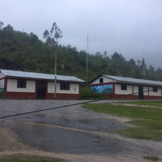 Shuttered shops in Cocachimba.