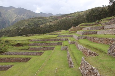 Well-maintained andenes of Chinchero.
