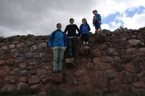 Posing on the andenes of Moray.