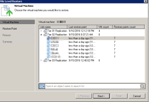 Veeam - Restore from replica 03