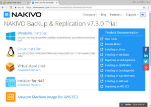 NAKIVO Deployment Options