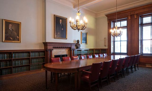 Hughes Room with central table