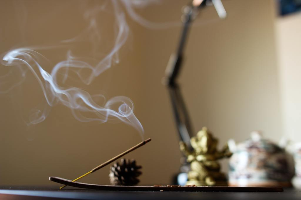 Meditation Space with Incense