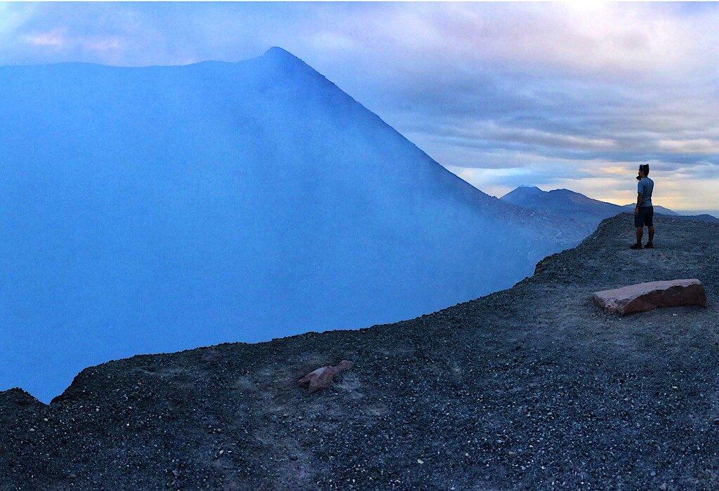 Volcan Telica at dusk