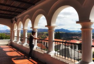 Viewpoint in Sucre Bolivia, shopping in Bolivia