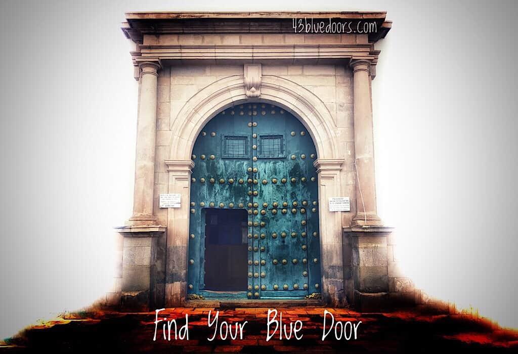 Blue door from Cochabamba Bolivia, Find your blue door