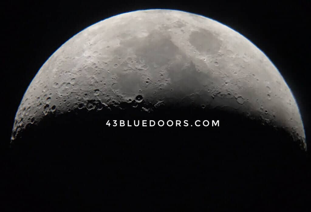 The moon through the telescope in Elqui Valley