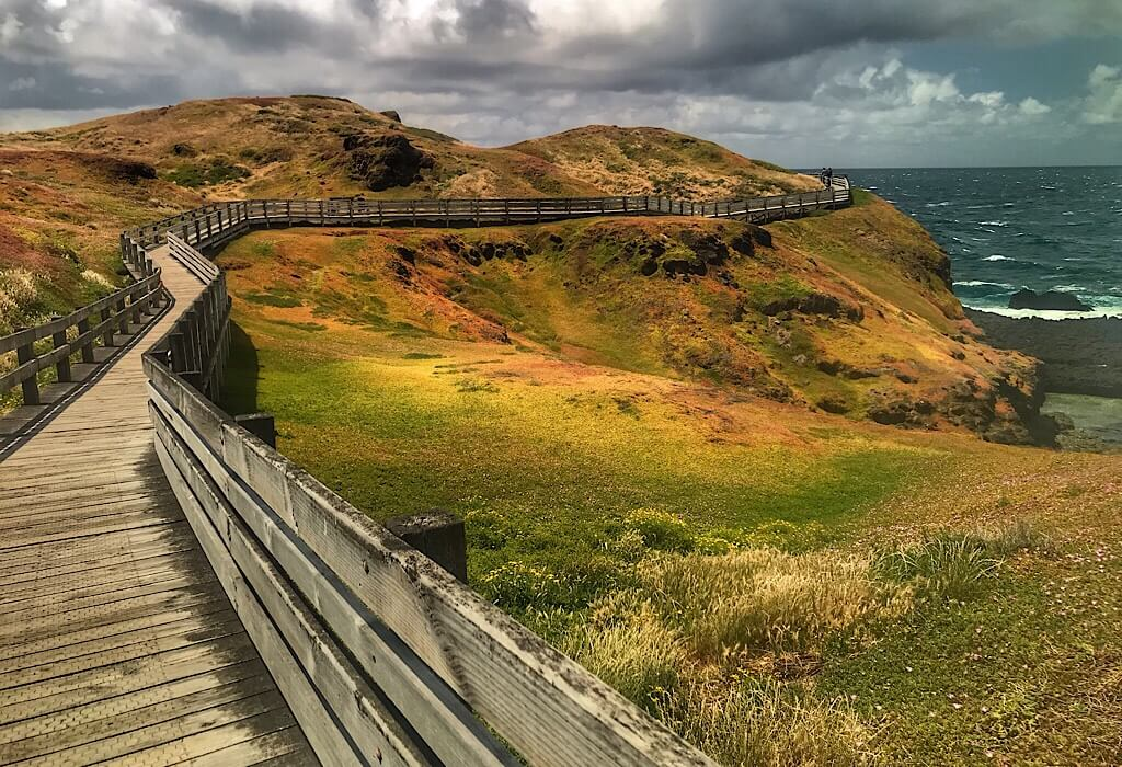 Boardwalk at the Nobbies on Philip Island, VIC, Australia