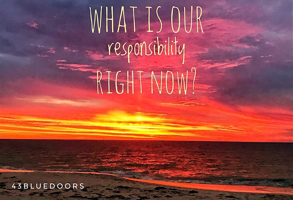What is our global responsibility right now? Sunset in Australia