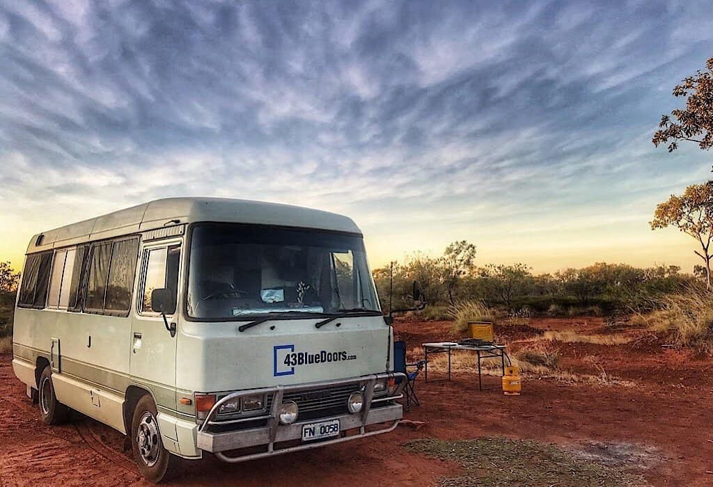 Lil' Beaut parked in the red center of Australia