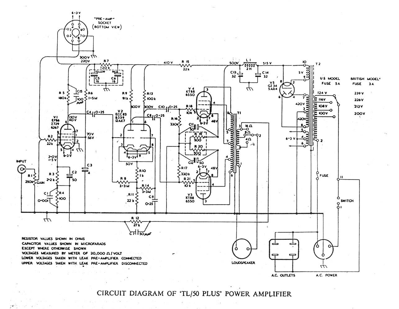 Distortion In The Leak Tl 50 Plus Amplifier