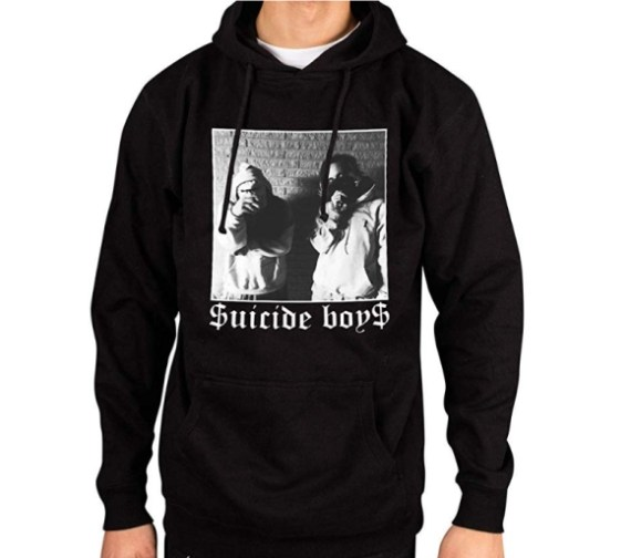 Ulterior Clothing Suicideboys Black and White Pose Hoodie