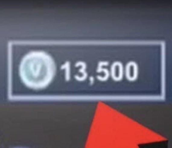Get 13,500 Fortnite VBucks