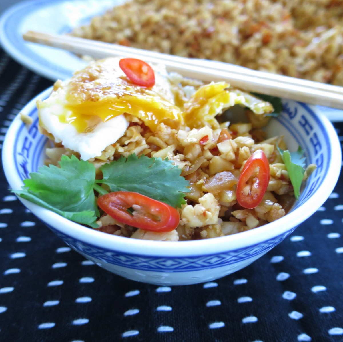 Cauliflower Rice - Nasi Goreng style - Mega low calorie