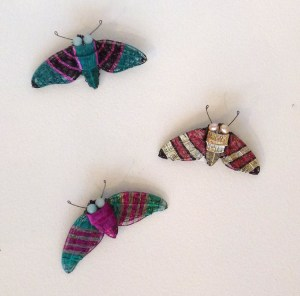 Kate Packer moth brooch