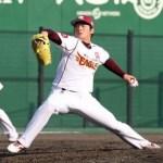 楽天の若き守護神・松井投手がオープン戦初登板!