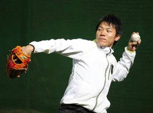 中日 大島選手 SSK 自主トレ