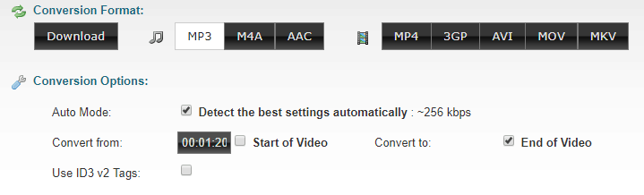 ClipConverter 选择转码区间