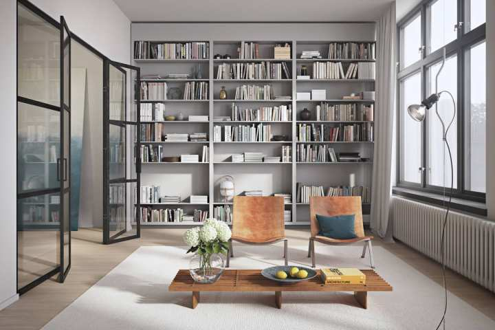 Gorgeous Alexander White Library renderings. Photo: Emma's Designblogg / White and Bright by Alexander White.