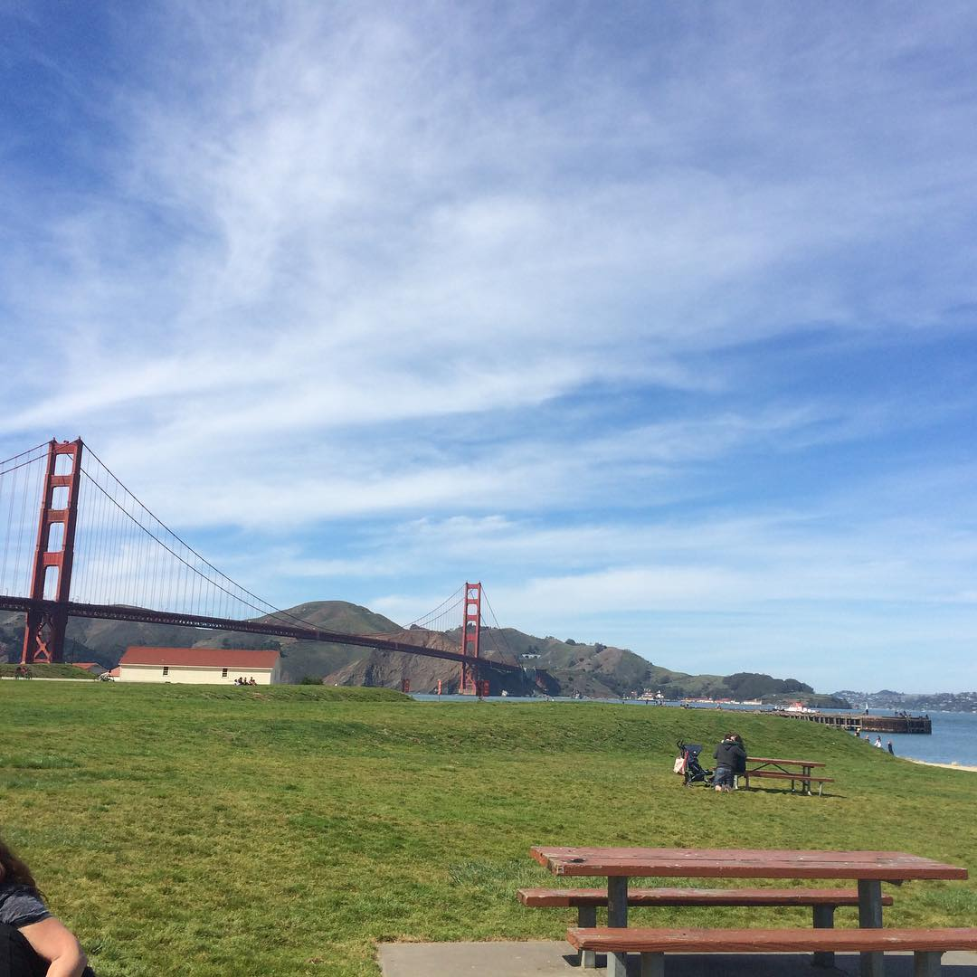 The West Bluff Picnic Area at Crissy Field.