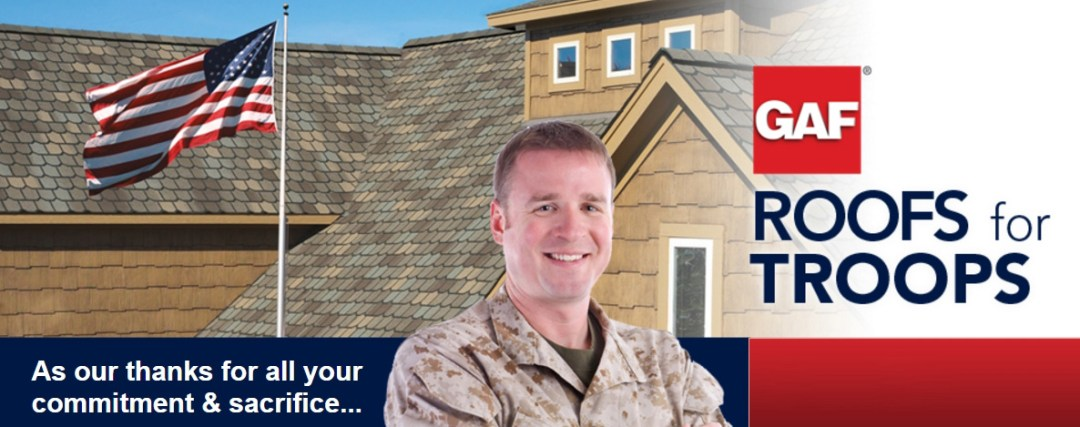 Roofs for Troops Rebate Program