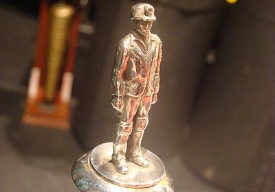 Miner on trophy