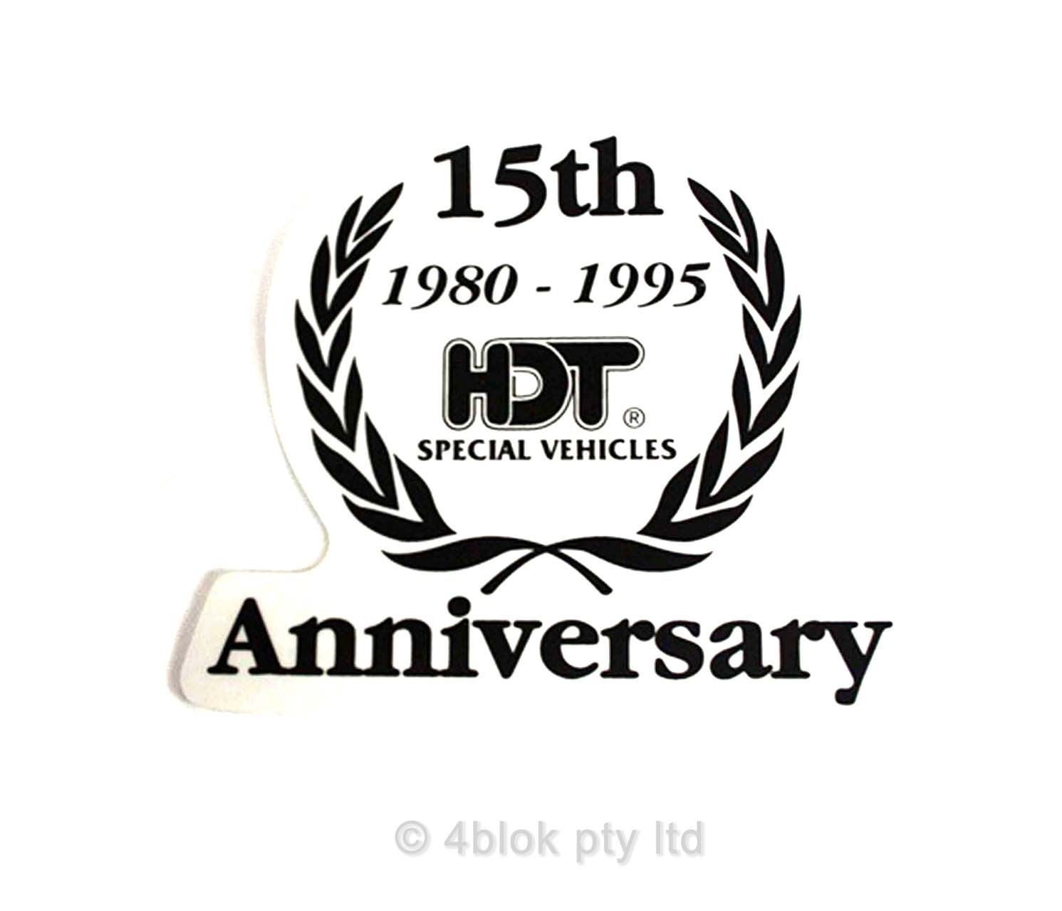 Hdt 15th Anniversary Decal