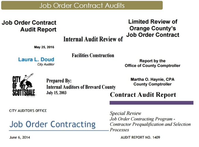 job order contract audits