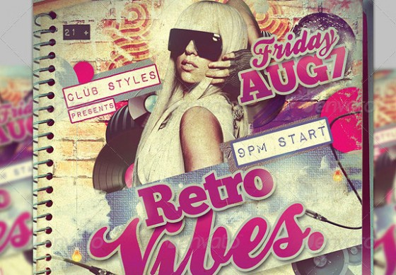 Retro Vibe Party Flyer Template