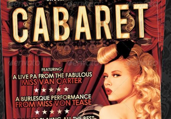 vintage cabaret flyer template