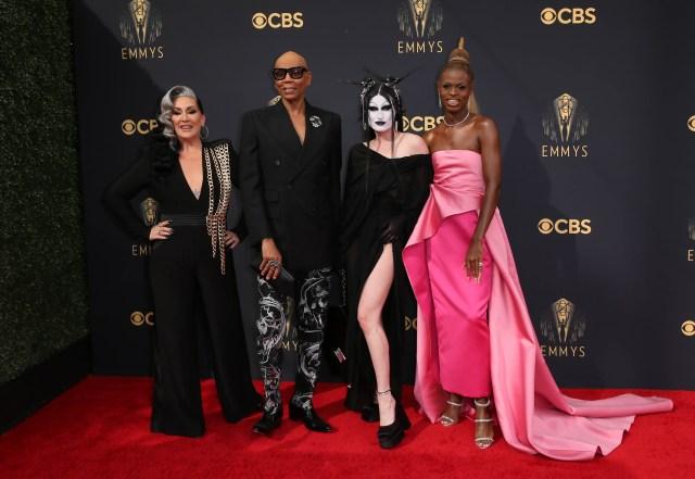 Michelle Visage, RuPaul, Gottmik, Symone Emmys Red Carpet 4Chion Lifestyle