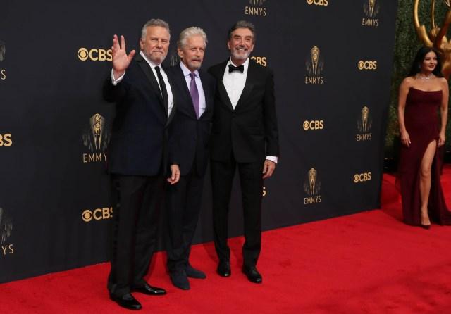 Paul Reiser, Michael Douglas, Chuck Lorre Emmys Red Carpet 4Chion Lifestyle