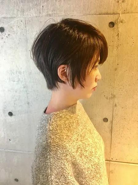 前上がりショートボブから前下がりの髪型へ!美容室anaglam(アナグラム)仙石のサロンワーク