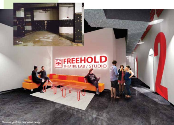 Rendering of design for the Free Hold Lab Studio.