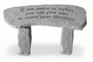 Garden Bench – If You Pause To Reflect