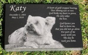 Premium Engraved Photographic Granite Pet Memorial
