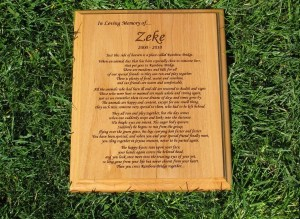 Rainbow Bridge Poem Wooden Plaque (8″ x 10″)