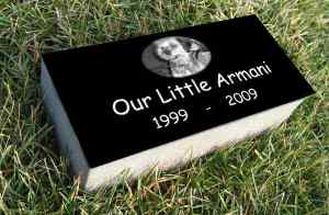 Super Premium Black Granite <br />Burial Markers, 4″ Thick!